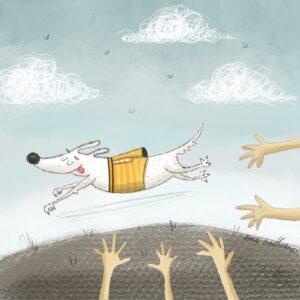 HAPPY DOG ilustracja