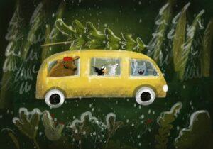 CHRISTMAS BUS illustration
